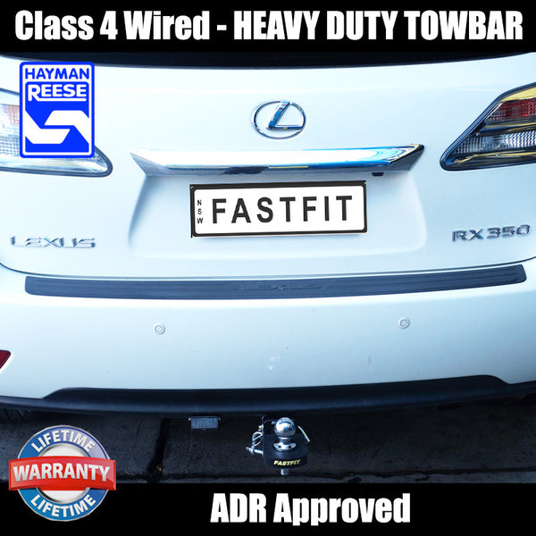 Hayman Reese Class 4 - Wired Heavy Duty Towbar To Suit Lexus RX350 - 03/2009 ON