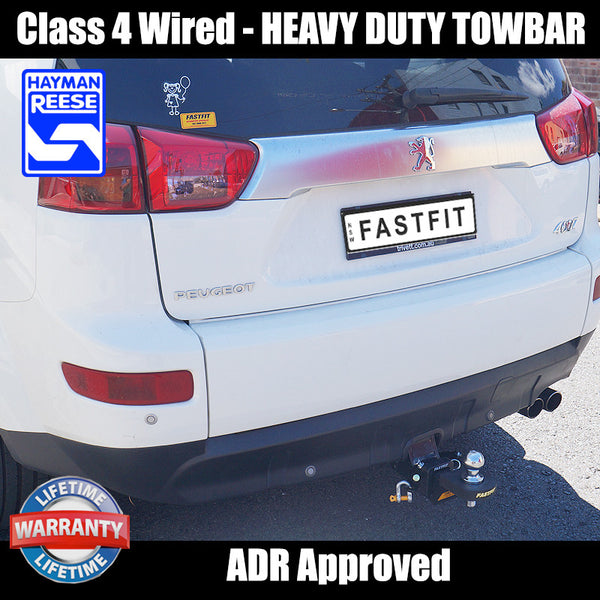 Hayman Reese Heavy Duty Towbar To Suit Peugeot 4007 Wagon - 11/2009 ON