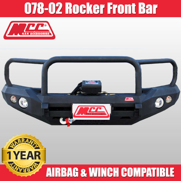 MCC 078-02 Triple Loop Rocker BullBar to Suit Nissan Navara D40 09/2005-02/2015