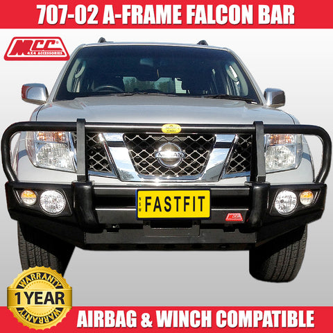 MCC4x4 707-02 A-FRAME Falcon Bull Bar To Suit Nissan Navara D40 - 2011 ON Africa-Spain STX