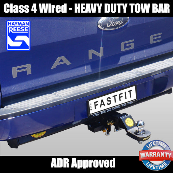 Hayman Reese Heavy Duty Towbar To Suit Ford Ranger 4D Utility PX Series II - 08/2015 ON