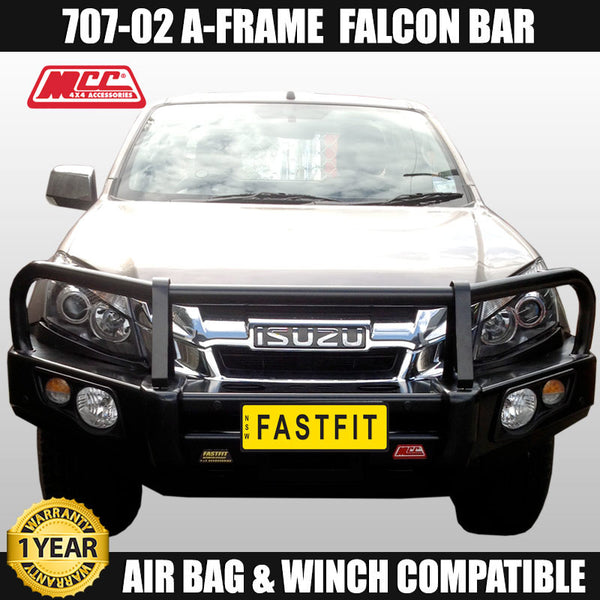 MCC 707-02 A-FRAME Falcon Bull Bar to suit Isuzu D-max 10/2008-07/2012
