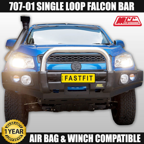 MCC4x4 707-01 Stainless Steel Single Loop Falcon Bull Bar To Suit Holden Colorado RG - 2012 ON