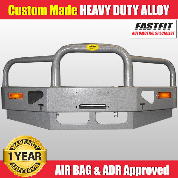 FastFit Charcoal Grey Powder Coated Alloy Bumper Replacement Bull Bar To Suit Mitsubishi Delica Series 1