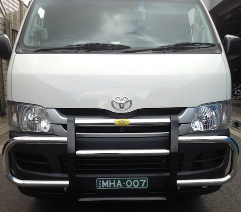 FastFit Steel Black Profile Bar To Suit Toyota Hiace -  02/2005 ON