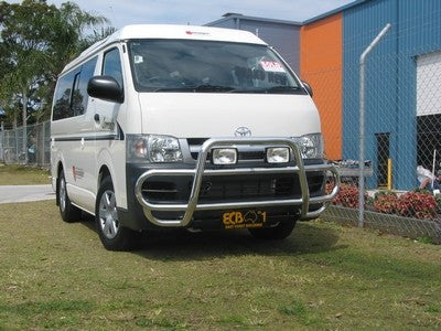 ECB Polished Alloy Type 8 Profile Bar To Suit Toyota Hiace - 3/2005 - 02/2014