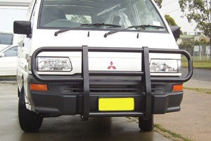 FastFit Steel Black Profile Bar To Suit Mitsubishi Express - 1999 ON