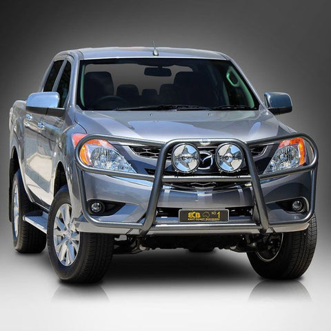 ECB Polished Alloy Type 8 Profile Bar To Suit Mazda BT50 4wd + 2wd High Rise - 10/2011 ON