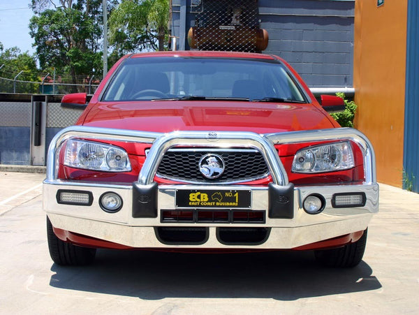 ECB Polished Alloy Bumper  Wrap Around Bull Bar to suit Holden Commodore VE Sedan,Ute & Sport Wagon 09/2010-04/2013