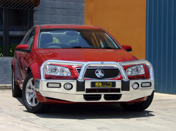 ECB Polished Alloy Bumper  Wrap Around Bull Bar To Suit Holden Commodore VE Sedan, Ute & Sport Wagon- 09/2010 To 04/2013