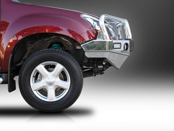 ECB Polished Alloy Bumper Replacement Bull Bar to suit ISUZU D-MAX 06/2012-ON