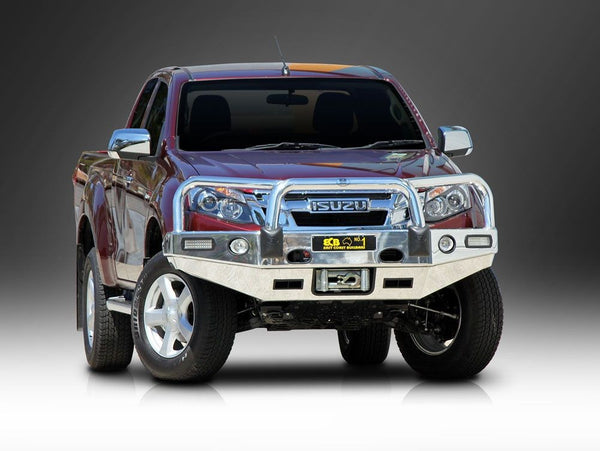 ECB Polished Alloy Bumper Replacement Bull Bar To Suit Isuzu D-MAX - 06/2012 ON