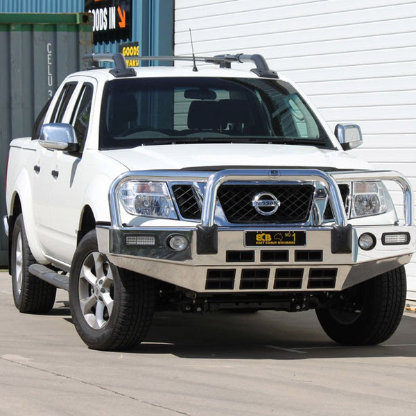 ECB Polished Alloy Bumper Replacement Bull Bar To Suit NISSAN NAVARA D40 - 2010 ON