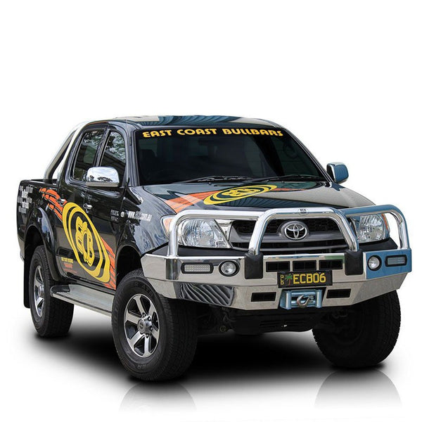 ECB Polished Alloy Bumper Replancement Bull bar to suit Toyota Hilux 4WD SR5 03/2005-07/2011