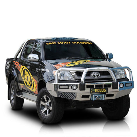 ECB Polished Alloy Bumper Replancement Bull bar To Suit Toyota Hilux  4WD SR5 - 03/2005 - 07/2011