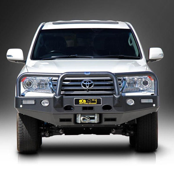 ECB Polished Alloy Bumper Replacement Bull Bar to suit Toyota Landcruiser 200 Series VX & Sahara 03/2012-10/2015