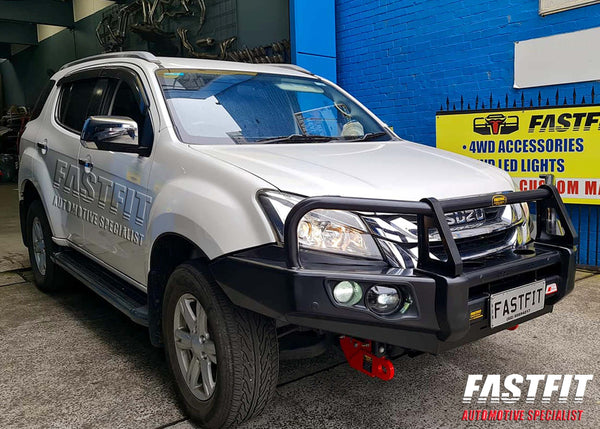 MCC 707-02 FALCON A-FRAME Bullbar PREMIUM with Recovery Hooks to suit ISUZU MU-X 2015