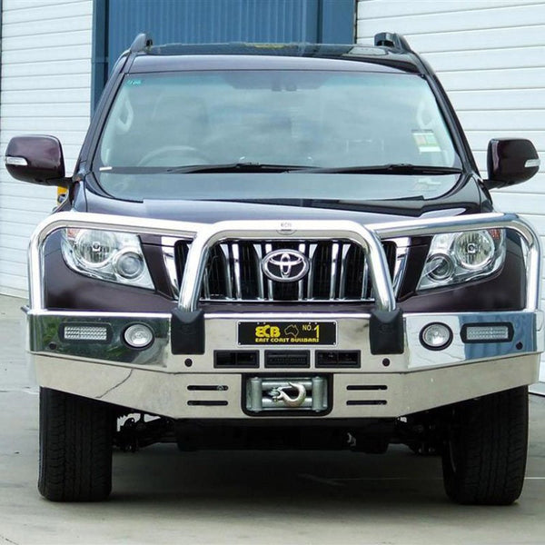 ECB Polished Alloy Bumper Replacement Bull Bar to suit Toyota Prado 150 Series 11/2009-ON