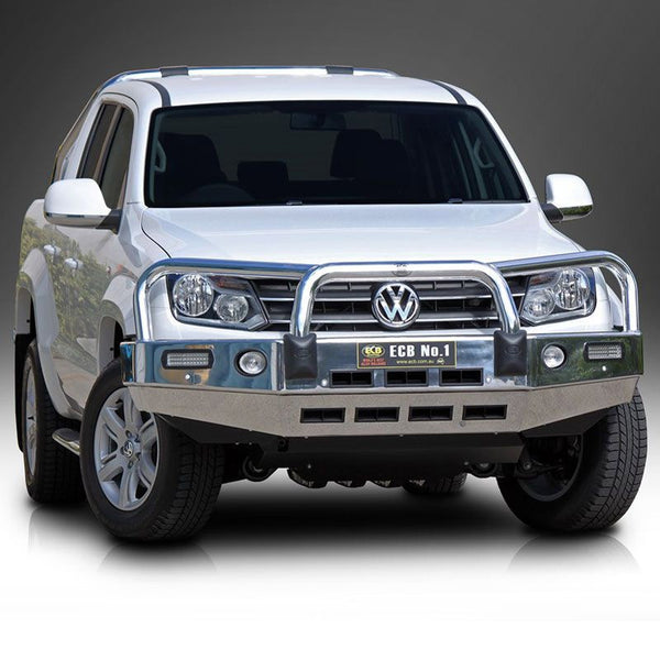 ECB Polished Alloy Bumper Replacement Bull Bar to suit Volkswagon Amarok 2010-ON