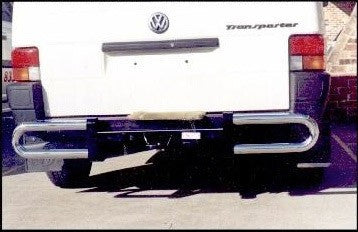 Fastfit Steel Black & Chrome Rear Protection Bar to suit Volkswagon Transporter T5 02/2010-ON