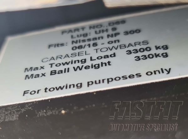 FastFit Heavy Duty TowBar to suit NISSAN NAVARA NP300 06/2015-ON