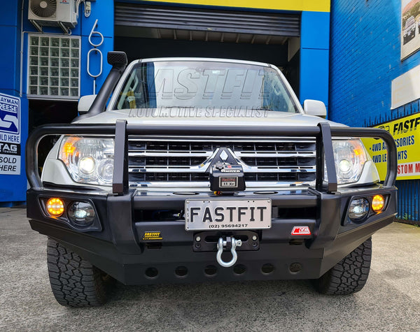 MCC 707-02 A-FRAME Falcon Bull Bar with Fog Lights to suit Mitsubishi NS,NT,NW Pajero 2015-On