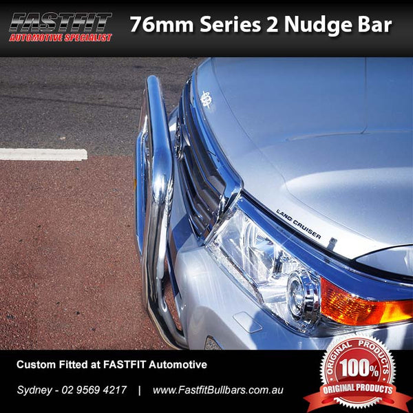 ECB 76mm Series 2 Nudge Bar to Suit Toyota Landcruiser 200 Series 03/2012-ON