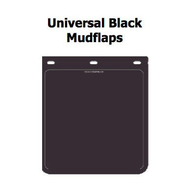 BLACK BLANK MUDFLAPS 355mm x 230mm