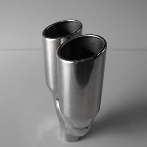 304 STAINLESS STEEL TWIN 3.5'' ANGLED EXHAUST TIP