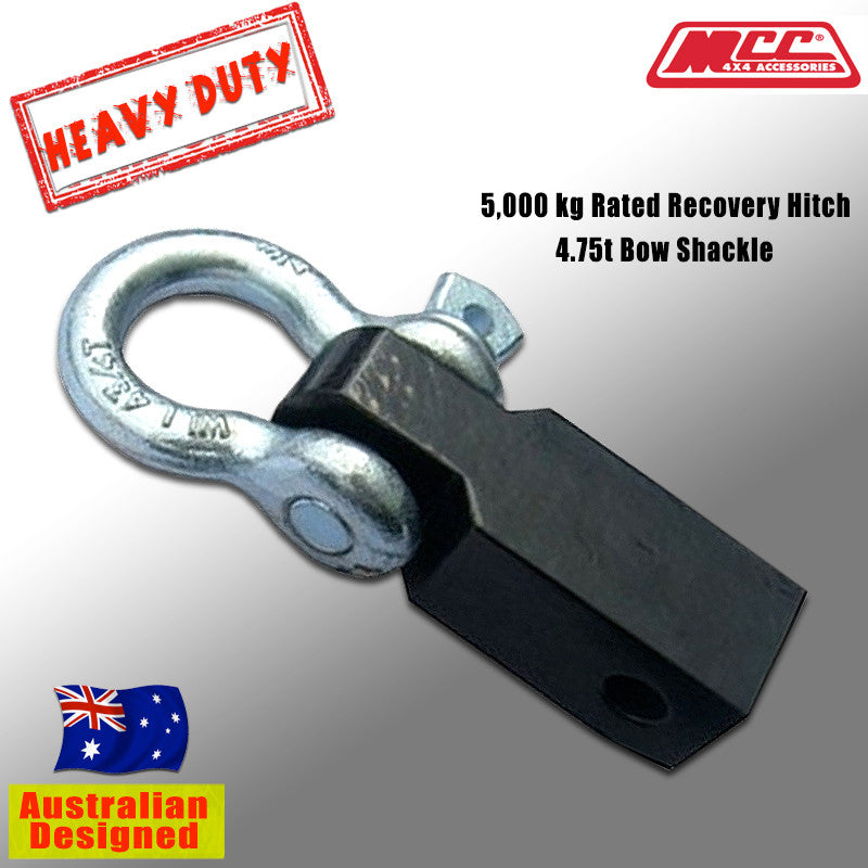 5T Heavy Duty Trailer Hitch /& Bow Shackle Tow Bar for Car 4x4 Off Road Vehicles 4WD Hitch Shackle
