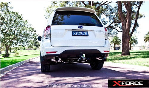 SUBARU FORESTER XT 2009 ONWARDS - SUBURU FORESTER XT 2009 ONWARDS TURBO-BACK STAINLESS STEEL WITH TWIN CATS