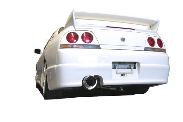 NISSAN SKYLINE R33 GTS-T 1993-1998 - 3.5'' ANGLE-OUT CANNON STYLE TURBO-BACK STAINLESS STEEL SYSTEM