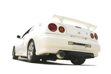 NISSAN SKYLINE R34 GTT-T 1998-2003 2-DOOR COUPE - 3'' ANGLE-OUT CANNON STYLE TURBO-BACK SYSTEM