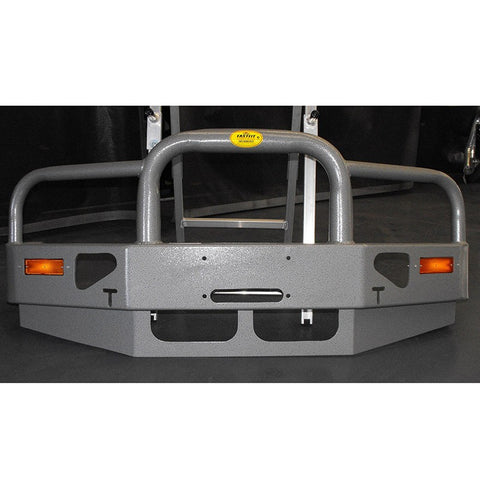 FastFit Charcoal Grey Powder Coated Alloy Bumper Replacement Bull Bar To Suit Mitsubishi Delica Series 4