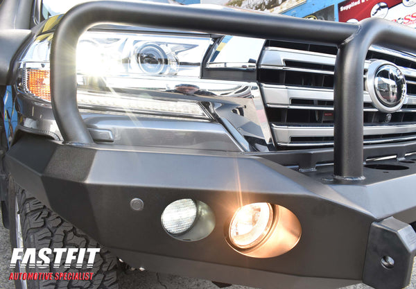 MCC 078-02 Triple Loop Rocker Bullbar (Round Lights) to suit LANDCRUISER 200 SERIES