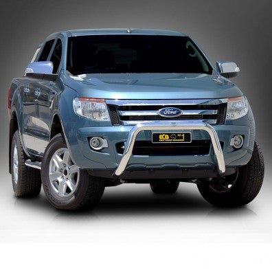 ECB 76mm Polished Alloy Nudge Bar to suit Ford Ranger 10/2011-ON