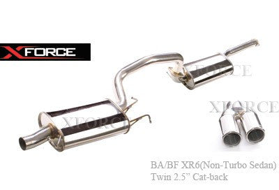 FORD FALCON BA-BF XR6 NON TURBO SEDAN - CAT-BACK 2.5'' STAINLESS STEEL SYSTEM