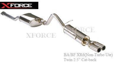 FORD FALCON BA-BF XR6 NON TURBO UTE - CAT-BACK 2.5'' STAINLESS STEEL SYSTEM