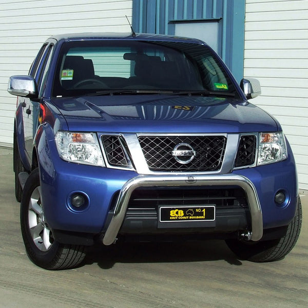 ECB 76mm Polished Alloy Nudge Bar To Suit Nissan Navara D40 -  01/2010 ON