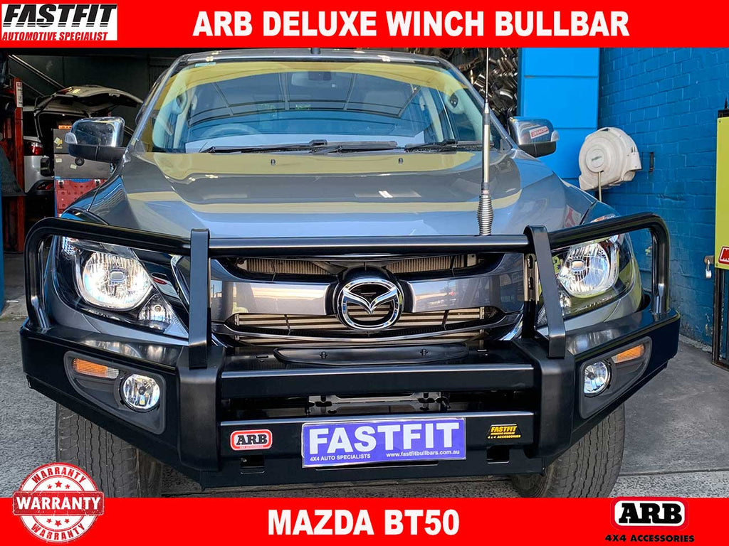 Arb Deluxe Winch Bullbar To Suit Mazda Bt50 2011 2015