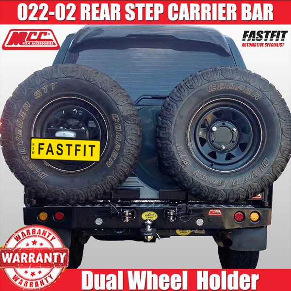 MCC 022-02 Rear Step Bar with Dual Wheel Carrier to suit Toyota LC Prado 90s 05/1996-02/2003