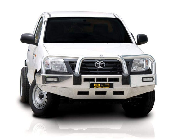 ECB Polished Alloy Bumper Replancement Bull Bar to Suit Toyota Hilux 2WD 09/2011-ON