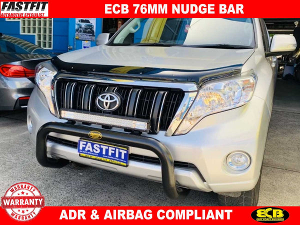 ECB Nudge Bar (Black) to suit Toyota Prado 11/2013-ON
