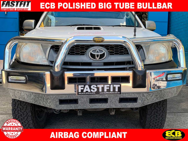 ECB Polished Big Tube Bar to suit Toyota Hilux 03/2005-07/2011