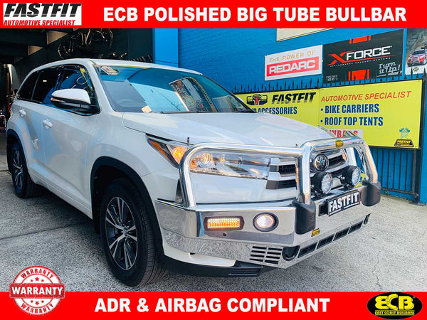 ECB Polished Big Tube Bar to suit Toyota Kluger 02/2017-ON