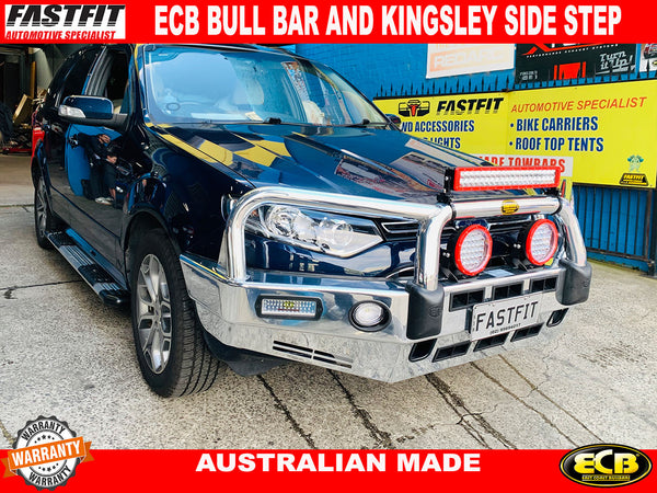 ECB BIG TUBE BAR WITH FOG LIGHTS AND KINGSLEY SIDE STEP TO SUIT ON FORD TERRITORY