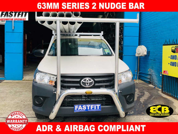 ECB 63mm Series 2 Nudge Bar to suit Toyota Hilux 05/2015-ON