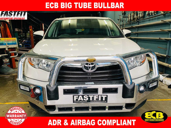 ECB Big Tube Bullbar with Fog Lights to suit Toyota Kluger 03/14-01/17