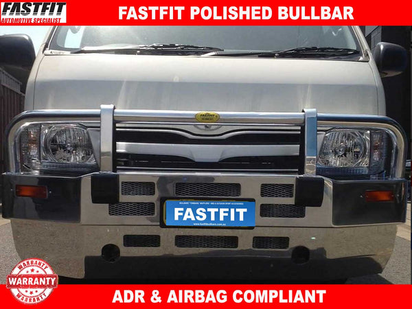 Fastfit Polished Alloy Bull Bar to suit Toyota Hiace  03/2005-02/2014