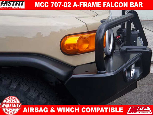 MCC4x4 707-02 A-Frame Falcon Bull Bar with Fog lights to suit Toyota FJ Cruiser 2011-ON